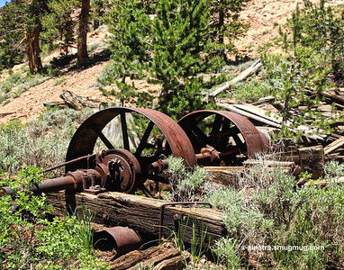 Old mining equipment.