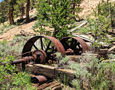 old wheels from mining gear