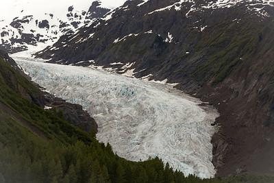 deep ravines of Bear Glacier