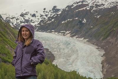 Alex at Bear glacier