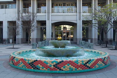 Fountain in front of the Metropolitan Water District