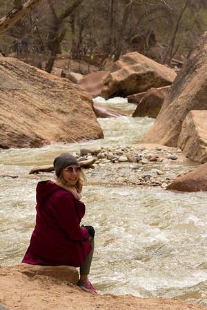 Zion National park River walk