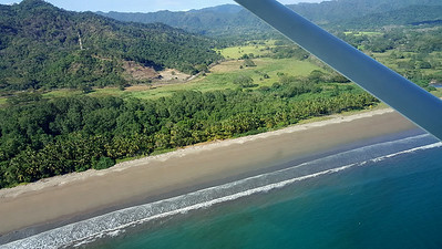 Tambor Beach from plane