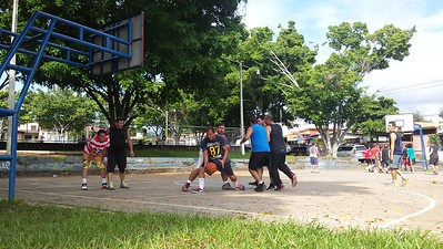 The Public Recreation Park Includes Basketball, Volleyball, Soccer, Skateboarding