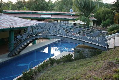 A Vanilla Vine art on bridge and pool bottom. Owner made his money on vanilla!