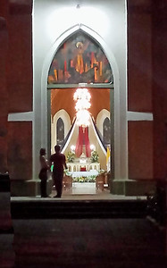 Catholic Church at Night