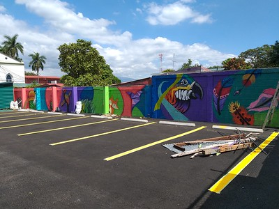 Mural in New Parking Lot