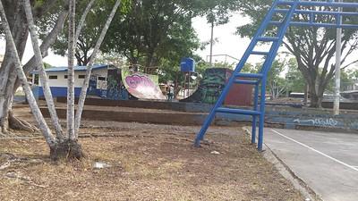 Skateboard Ramp Old Graffiti