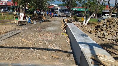 "NE Corner ""Sitting Walls"" Under Construction"