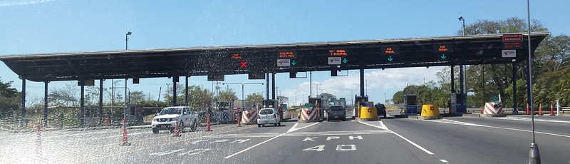 Toll Booth on Ruta 27 - Our expressway to the Pacific Coast