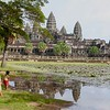 Children At Angkor Wat