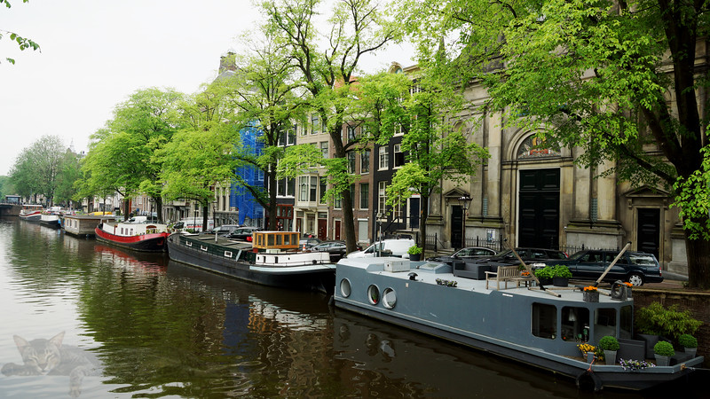 Boats on Amsterdam Canal
