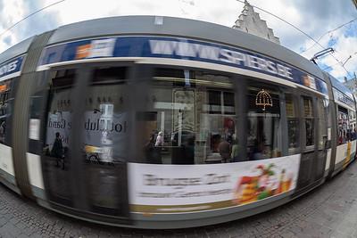A tram in Ghent