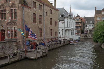 Boat Station. Bruges