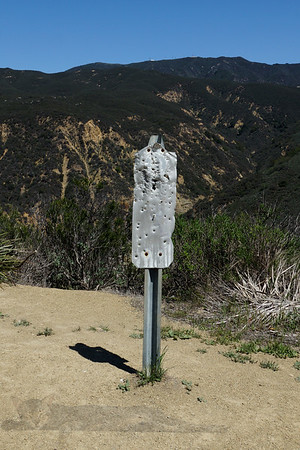 Black Star Canyon - Bullet Ridden Sign - California