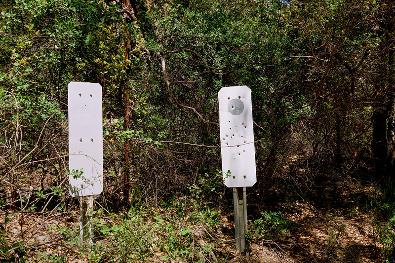 Black Star Canyon - Bullet Ridden Signs - California