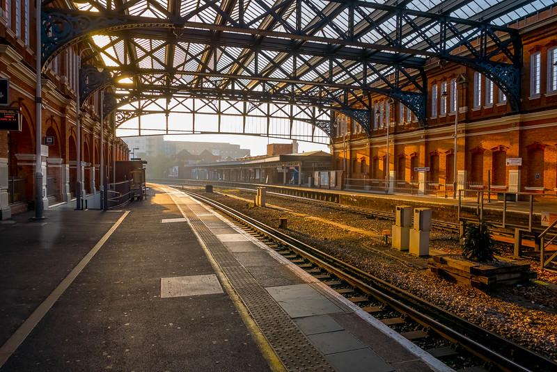Bournemouth Railway Station Northeast, Dorset, England