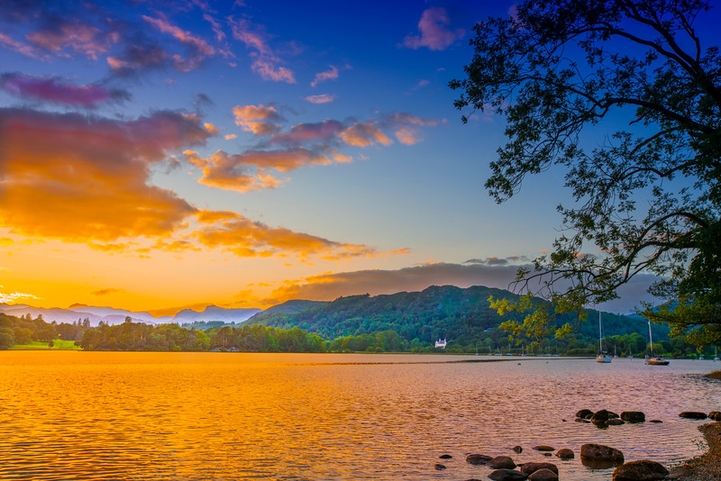 Sunset on Brathay, Lake Windermere