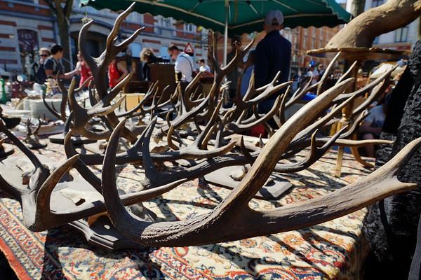 Antlers in a Brussels Street Market