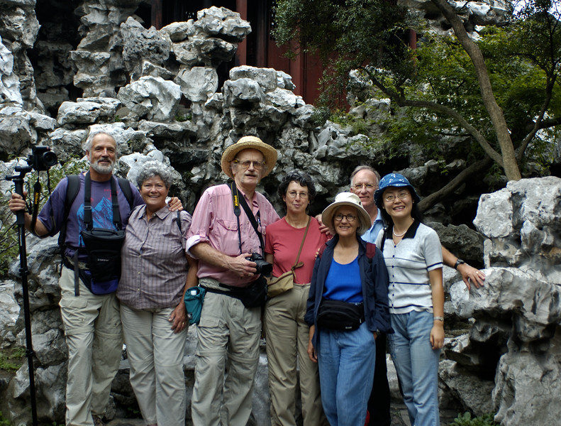 Our Group + Typhoon Lily, Yuyuan Gardens, Shanghai