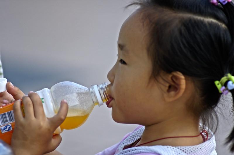 Young girl on Bund, Shanghai
