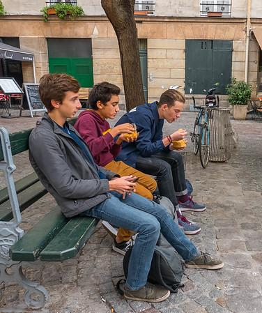 Les  Trois Garçons, Paris