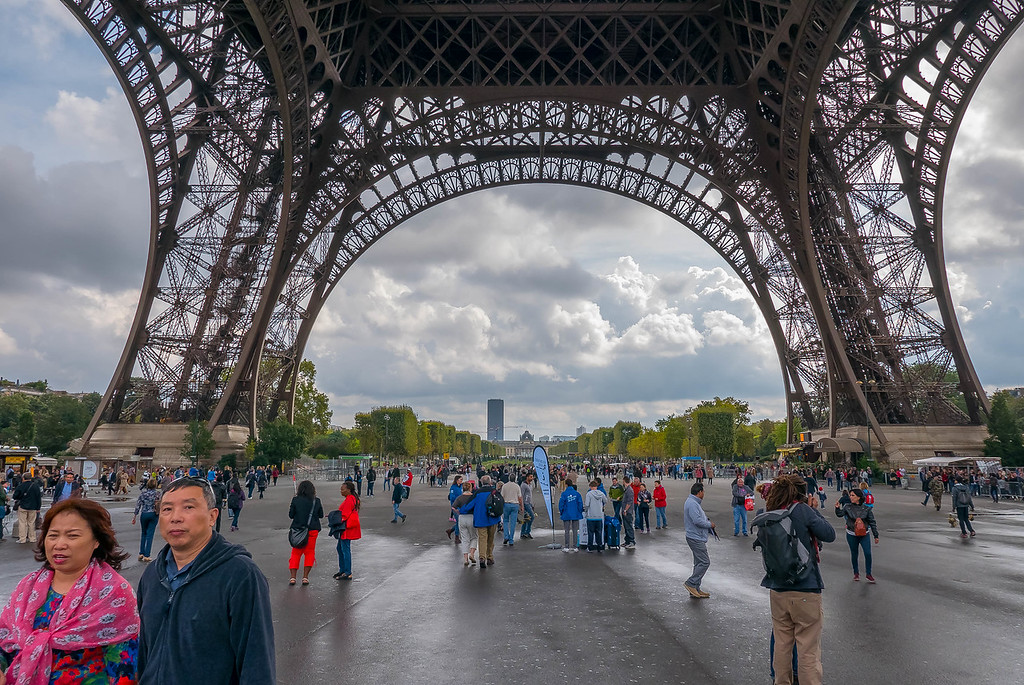 Eiffel Tower Tourists