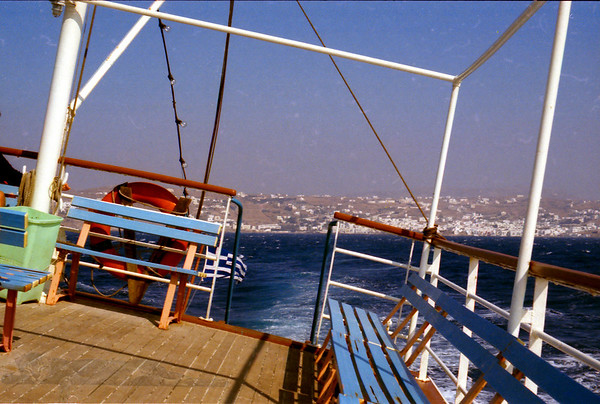 Ferry out of Naxos (80s)