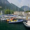 """Dinghy dock at the Sailing Centre 'Fraglia Vela Riva"""" in Riva del Garda"""