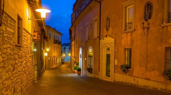 Night Street, Sirmione, Lombardy, Italy