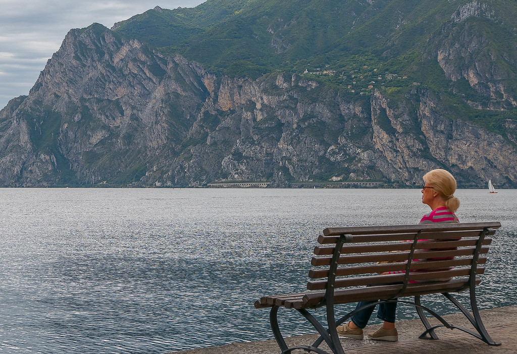 Woman on a Bench, Torbole, Lago di Garda, Italy
