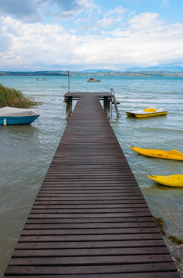 Dock at Hotel La Rondine, Lago di Garda, Italy