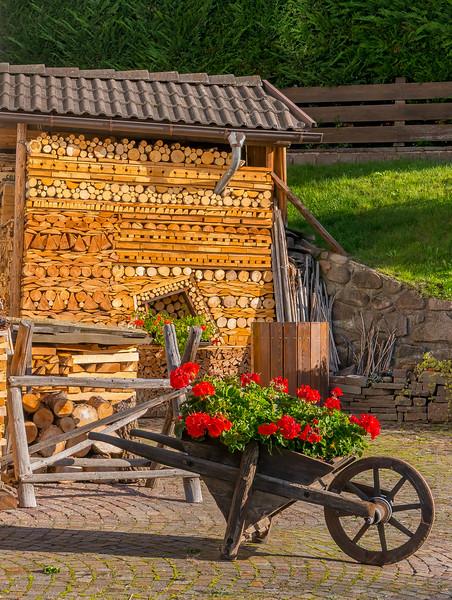 Wheelbarrow, Varena, Italy