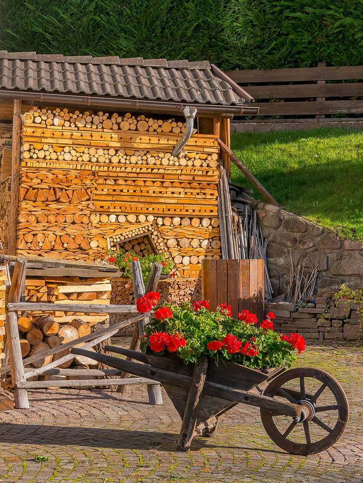Wheelbarrow, Varena, Italy