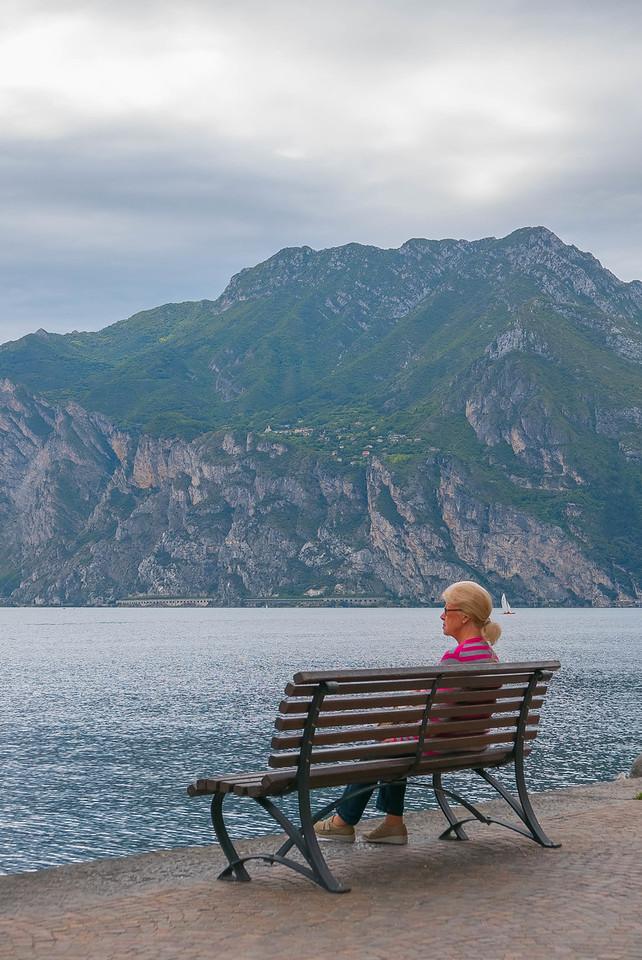 Woman on a Bench 2, Torbole, Lago di Garda, Italy