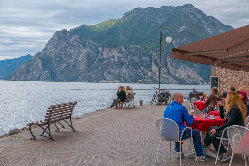 Lunch in Torbole, Lago di Garda, Italy