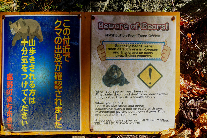 Bear Warning Sign - Kumano Kodo Trail