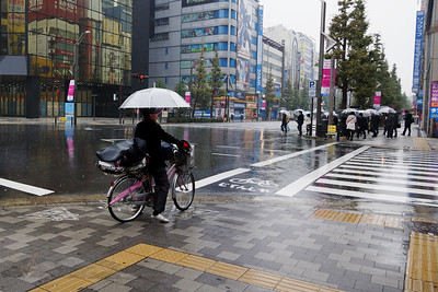 Bicycle in the Rain