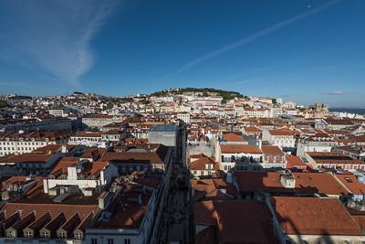 Lisbon from Santa Justa Elevator