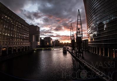 Canary Wharf - City Sunset