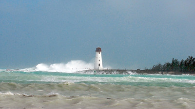 NASSAU LIGHTHOUSE IN A BLOW