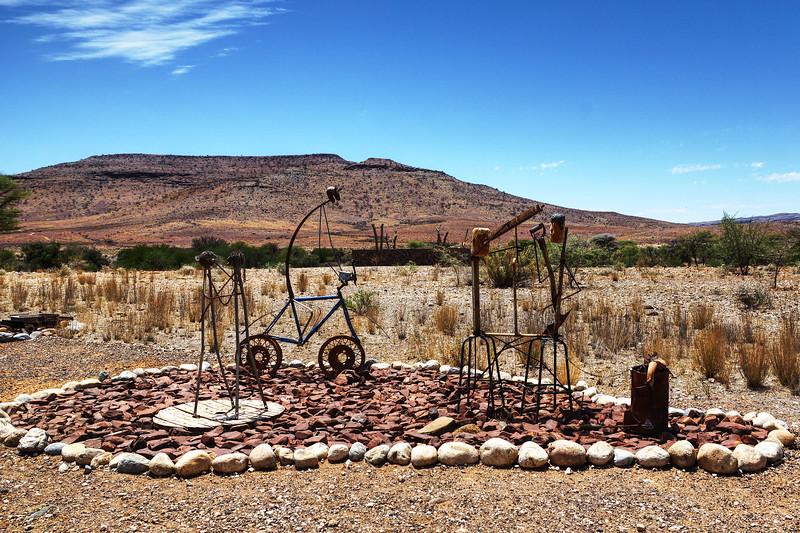 Sculpture at Tsauchab River Camp, Namibia