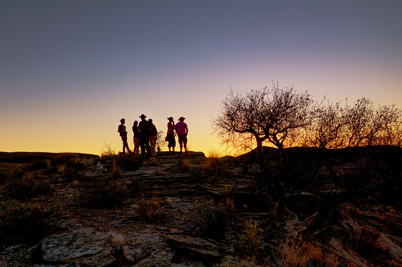 Sundowner after a Days Work at Naankuse, Namibia