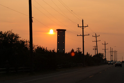 2008 September Sunset at Cape May Point (Sunset Beach) and Concrete Ship Atlantus