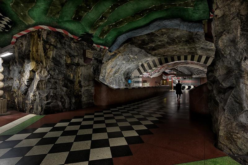 Kungstraedgaerden Metro Station, Stockholm