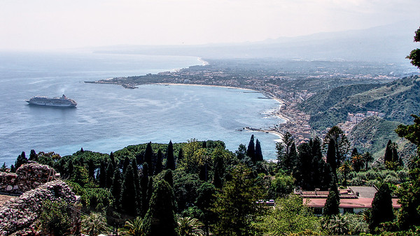 Panorama over Sicily