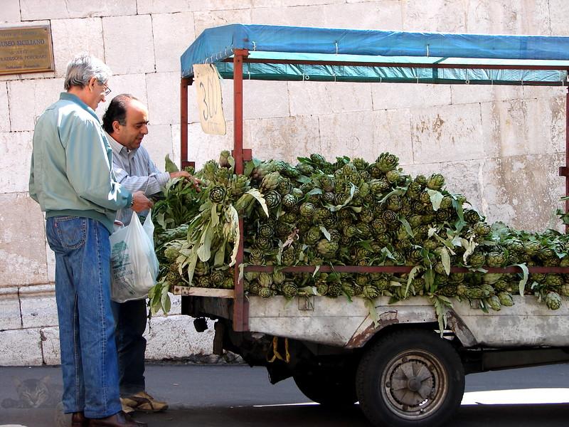 Vegetable Seller in Sicily