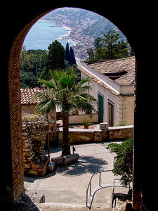 View through an Arch in Sicily