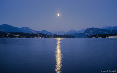 Moon Splitting Lake Lucerne