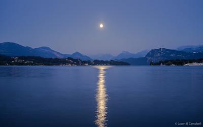 Moon Splitting Lake Lucerne